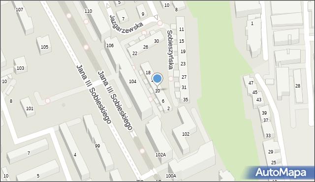Warszawa, Sobieszyńska, 10, mapa Warszawy