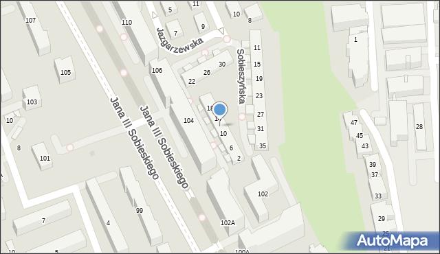 Warszawa, Sobieszyńska, 12, mapa Warszawy