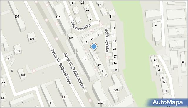 Warszawa, Sobieszyńska, 18, mapa Warszawy