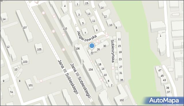 Warszawa, Sobieszyńska, 22, mapa Warszawy