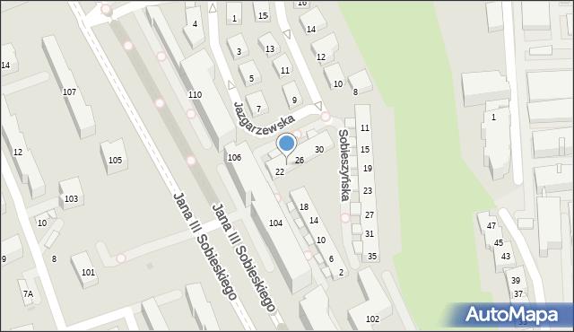 Warszawa, Sobieszyńska, 24, mapa Warszawy