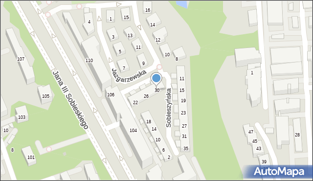 Warszawa, Sobieszyńska, 30, mapa Warszawy