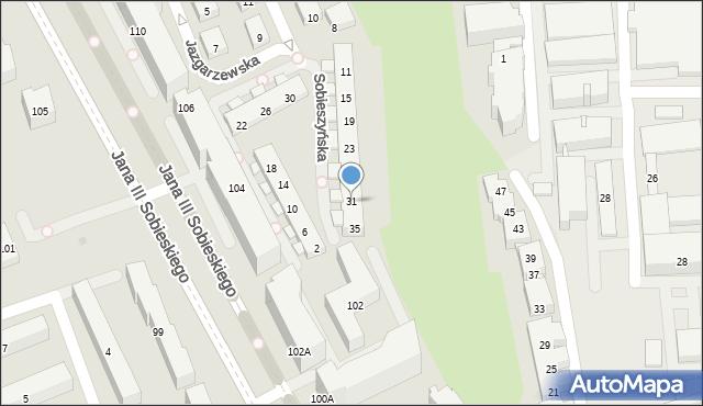 Warszawa, Sobieszyńska, 31, mapa Warszawy