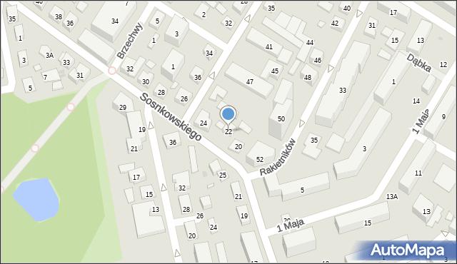 Warszawa, Sosnkowskiego Kazimierza, gen., 22, mapa Warszawy