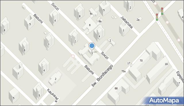 Warszawa, Soczi, 1, mapa Warszawy