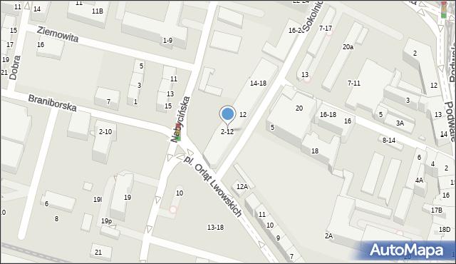 Wrocław, Sokolnicza, 2-12, mapa Wrocławia