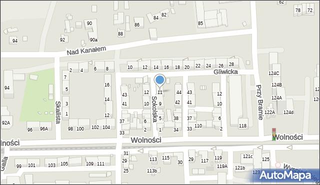 Zabrze, Sokolska, 11, mapa Zabrza