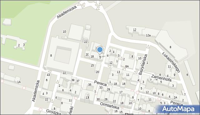 Zamość, Solna, 5, mapa Zamościa