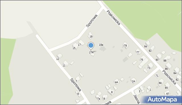 Bytom, Sportowa, 17A, mapa Bytomia