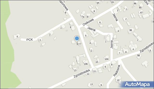 Bytom, Sportowa, 3, mapa Bytomia
