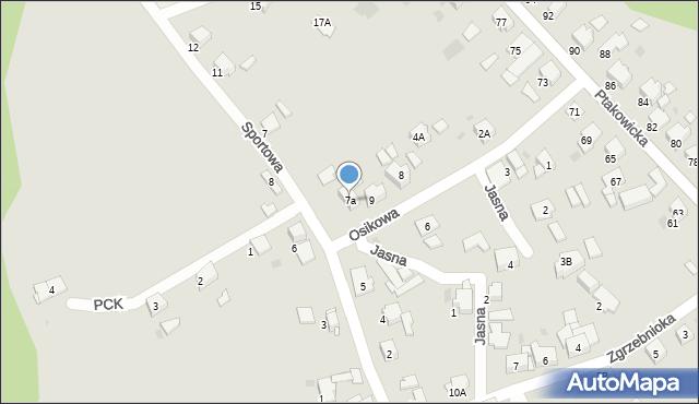 Bytom, Sportowa, 7a, mapa Bytomia