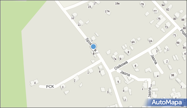 Bytom, Sportowa, 8, mapa Bytomia