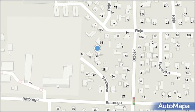 Chełm, Sportowa, 4B, mapa Chełma
