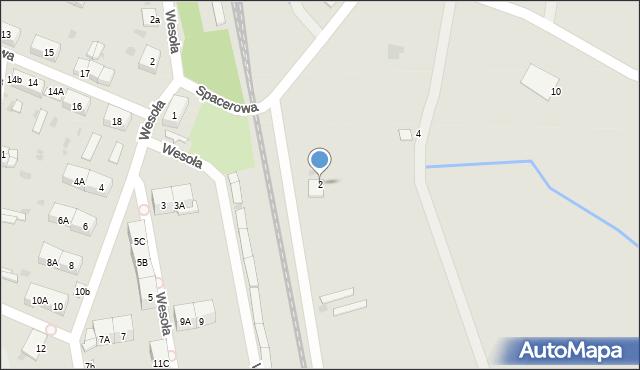 Chocianów, Spacerowa, 2, mapa Chocianów