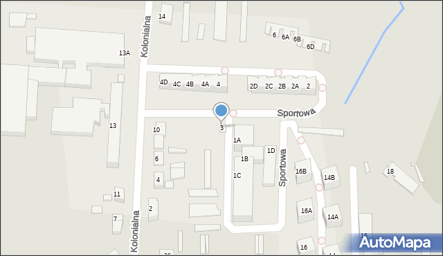Chocianów, Sportowa, 3, mapa Chocianów