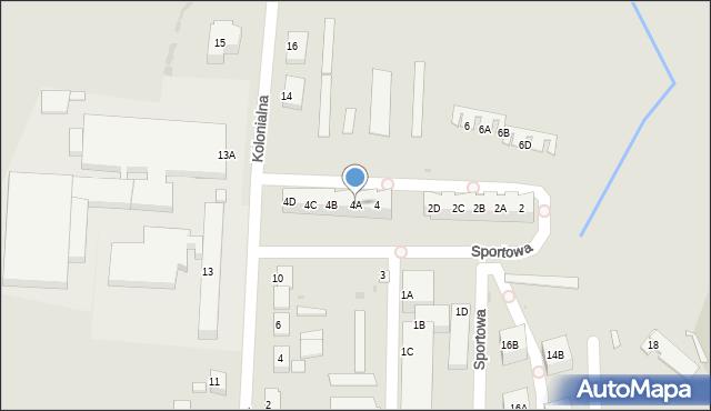Chocianów, Sportowa, 4A, mapa Chocianów