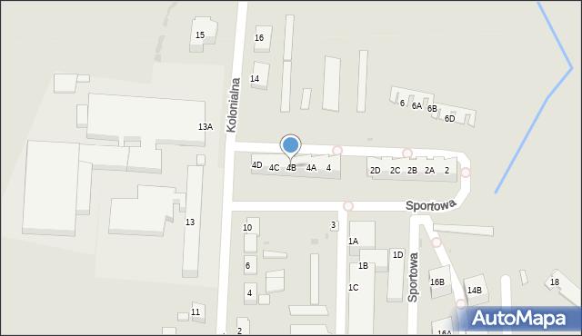 Chocianów, Sportowa, 4B, mapa Chocianów