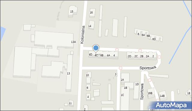 Chocianów, Sportowa, 4C, mapa Chocianów