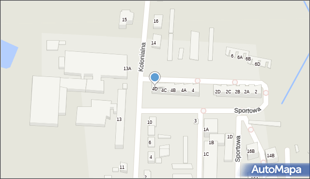 Chocianów, Sportowa, 4D, mapa Chocianów