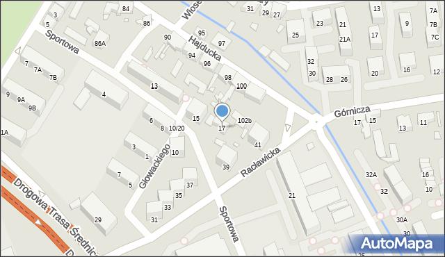Chorzów, Sportowa, 17, mapa Chorzów