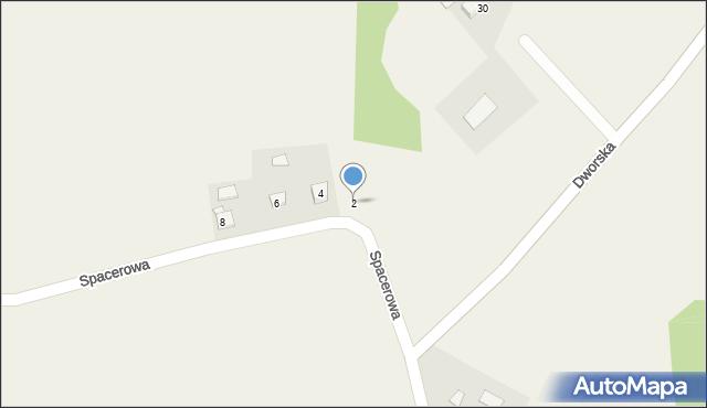 Frydrychowice, Spacerowa, 2, mapa Frydrychowice