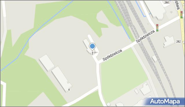 Gdynia, Spółdzielcza, 2, mapa Gdyni