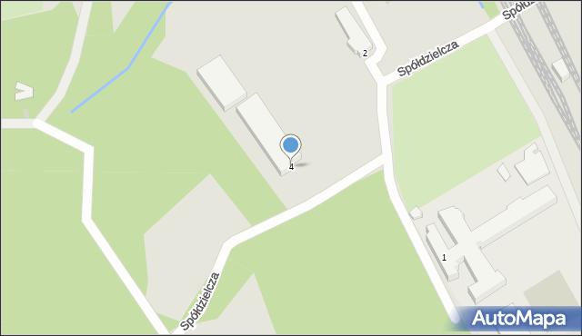Gdynia, Spółdzielcza, 4, mapa Gdyni