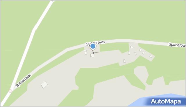 Grudziądz, Spacerowa, 8, mapa Grudziądza