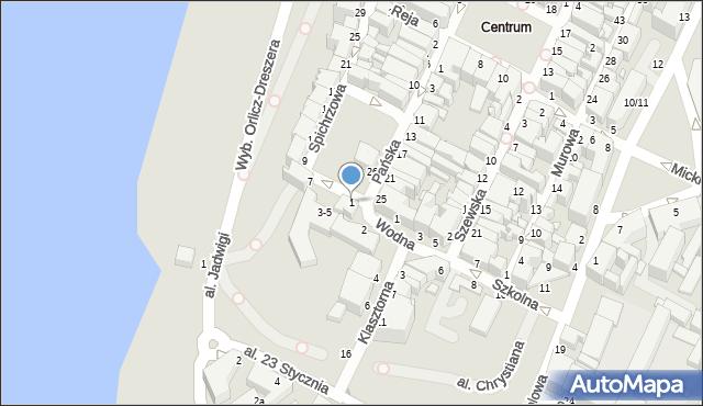 Grudziądz, Spichrzowa, 1, mapa Grudziądza