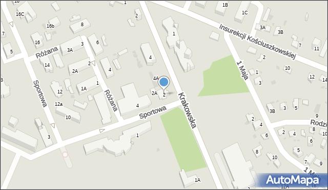Jaworzno, Sportowa, 2, mapa Jaworzno