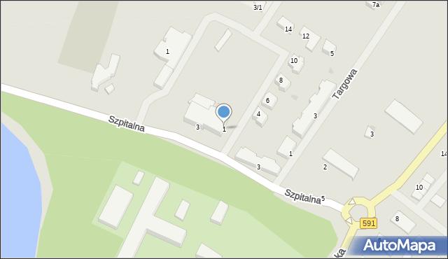 Kętrzyn, Sportowa, 1, mapa Kętrzyn