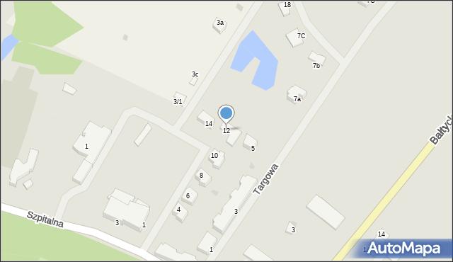 Kętrzyn, Sportowa, 12, mapa Kętrzyn