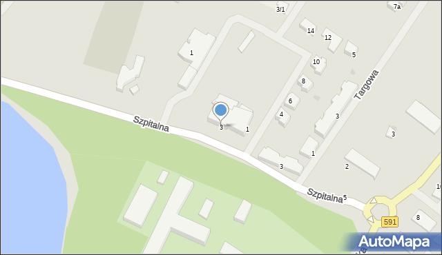 Kętrzyn, Sportowa, 3, mapa Kętrzyn