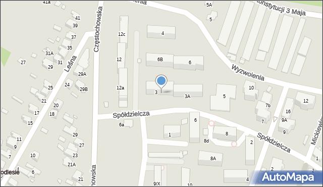 Łazy, Spółdzielcza, 3B, mapa Łazy