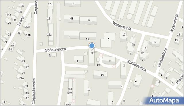 Łazy, Spółdzielcza, 6, mapa Łazy