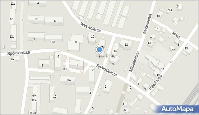 Łazy, Spółdzielcza, 7, mapa Łazy