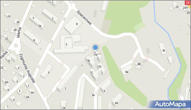 Limanowa, Spacerowa, 7A, mapa Limanowa
