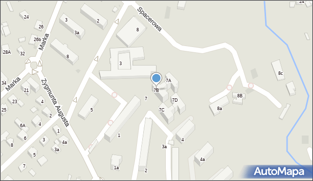 Limanowa, Spacerowa, 7B, mapa Limanowa
