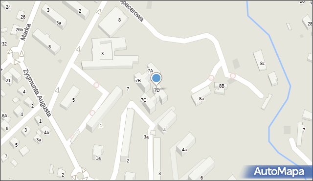 Limanowa, Spacerowa, 7D, mapa Limanowa