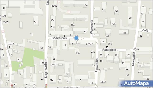 Łódź, Spacerowa, 7, mapa Łodzi
