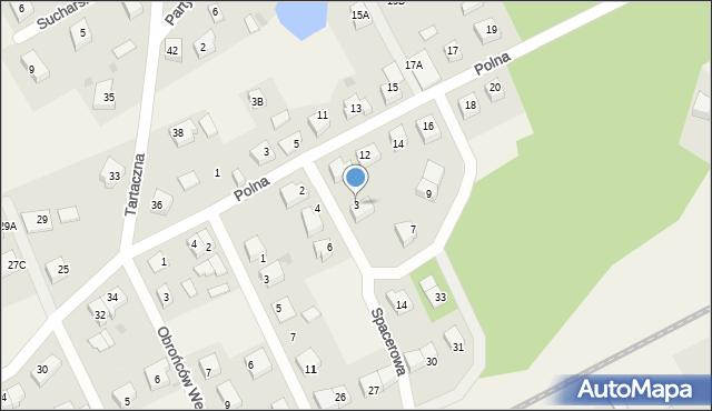Luzino, Spacerowa, 3, mapa Luzino