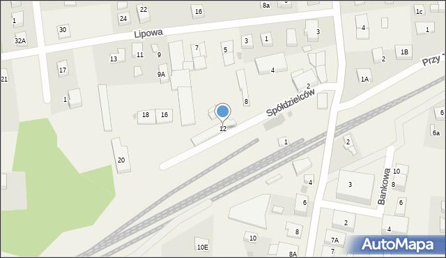 Luzino, Spółdzielców, 12, mapa Luzino