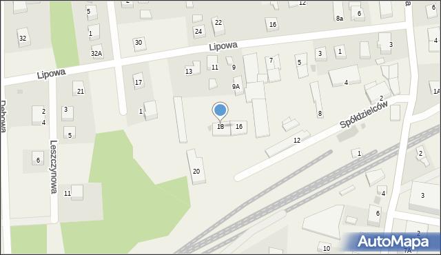 Luzino, Spółdzielców, 18, mapa Luzino