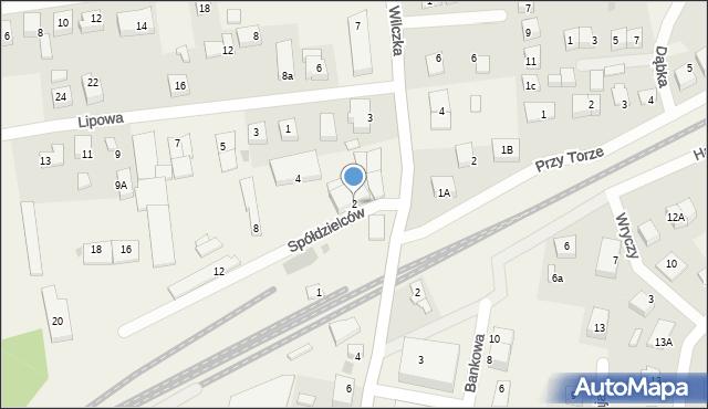 Luzino, Spółdzielców, 2, mapa Luzino