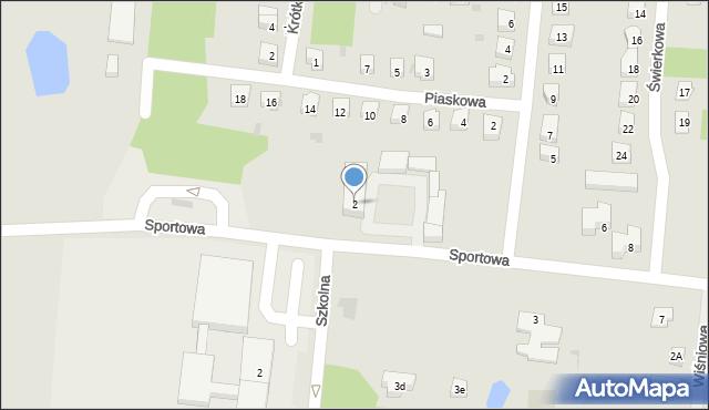 Miękinia, Sportowa, 2, mapa Miękinia