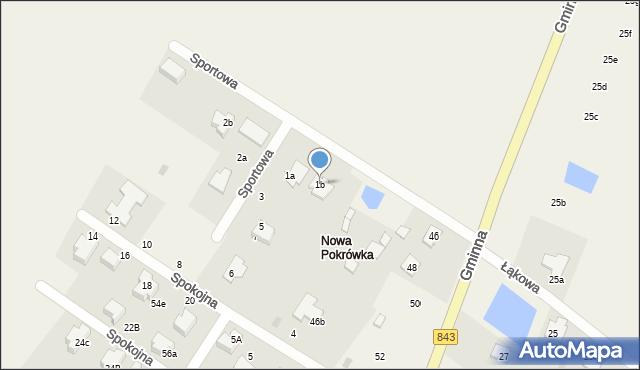 Pokrówka, Sportowa, 1b, mapa Pokrówka
