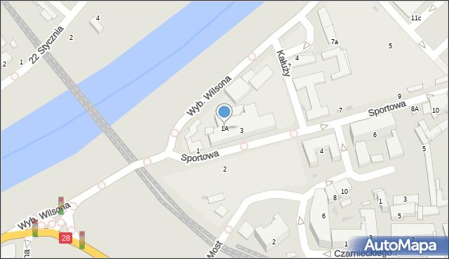 Przemyśl, Sportowa, 1A, mapa Przemyśla