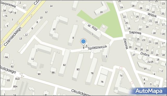 Radom, Spółdzielcza, 6, mapa Radomia