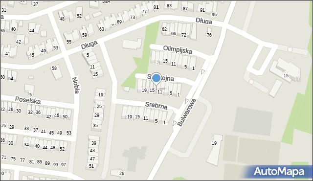 Radom, Spokojna, 13, mapa Radomia