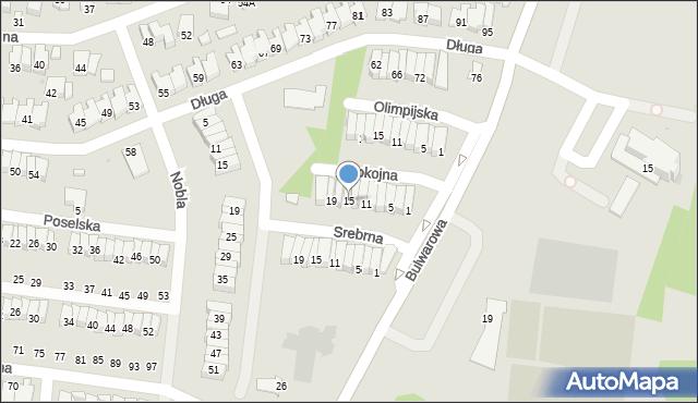 Radom, Spokojna, 15, mapa Radomia